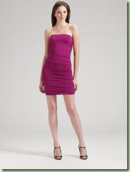 velvet shine tube dress